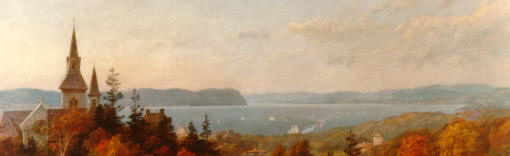 --Detail from 'View from Misses Masters School' by J. C. Cropsey, c.1890